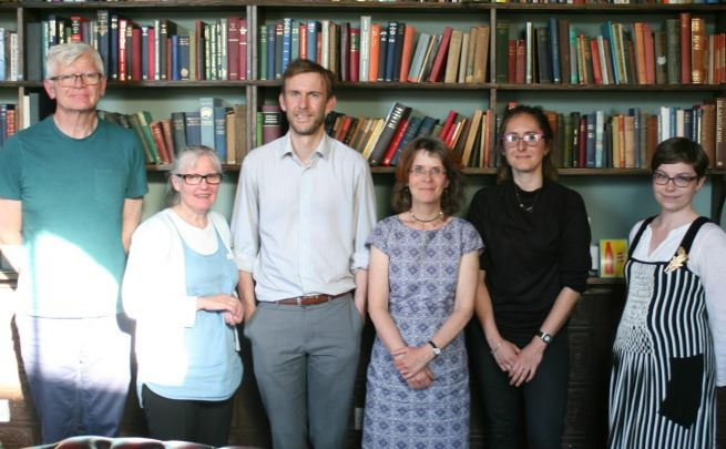 WYPF Members meeting with ShareAction July 2016: Peter Taylor, Lesley Hall, James Brass, Jane Thewlis, Jess Clark (from ShareAction) and Sam Saxby.